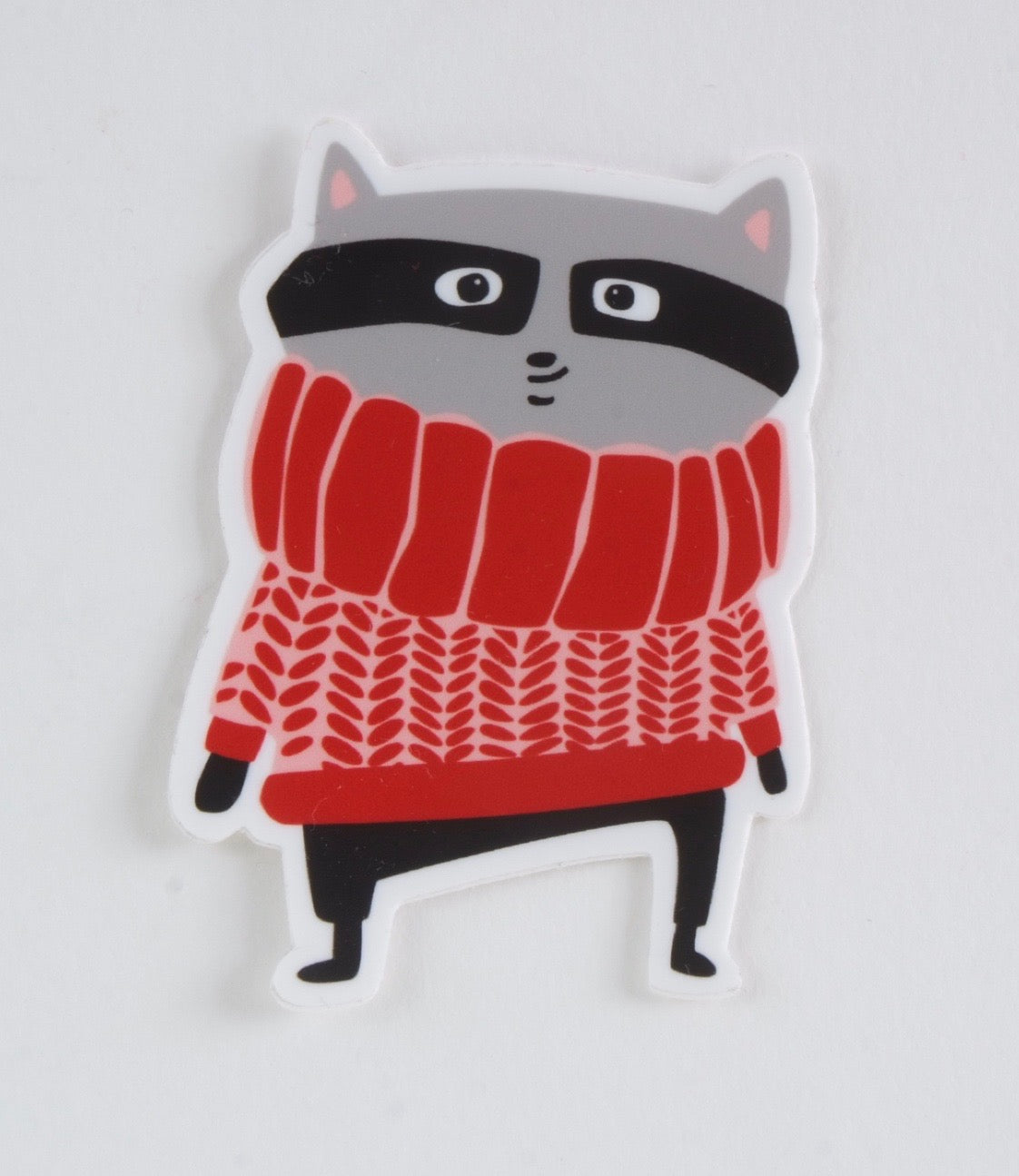 Racoon in a Sweater Sticker