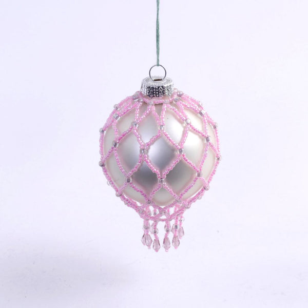 Pink Beaded Ornament
