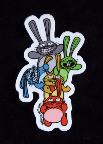 Mini Boom Bunnies Sticker