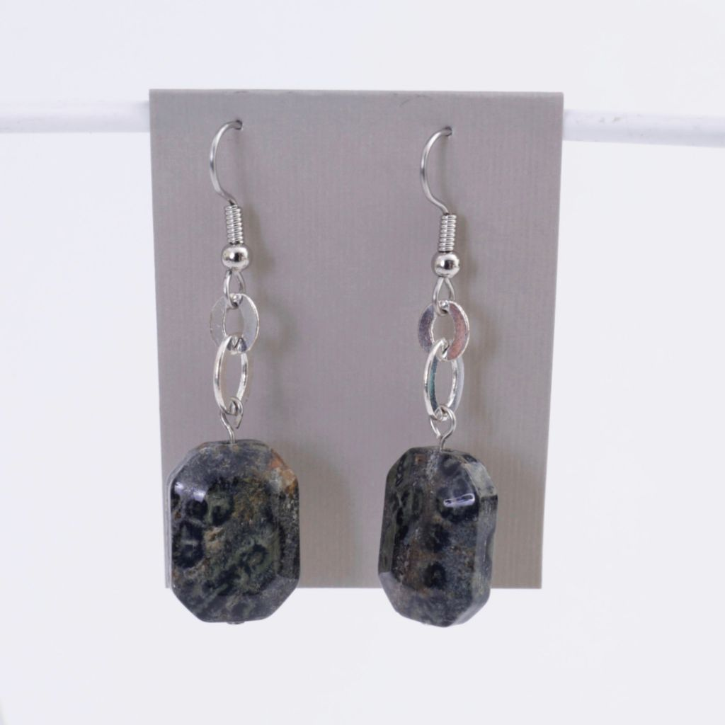 Grey Jasper Earrings