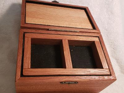Jatoba & Fiddleback Maple Small Trunk w Hidden Compartment