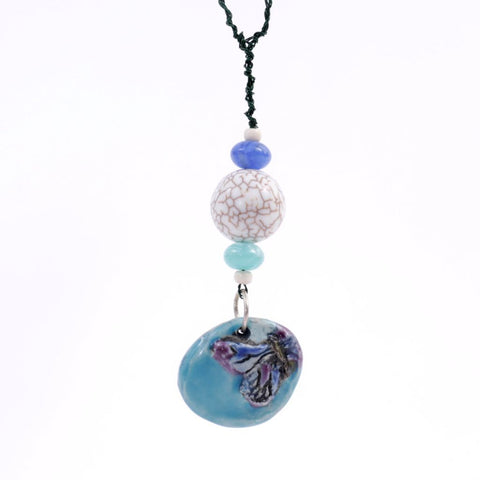 Blue Porcelain Butterfly Goddess Bauble Hanging