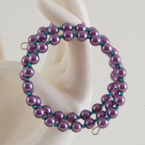 Purple and teal bracelet Memory Wire