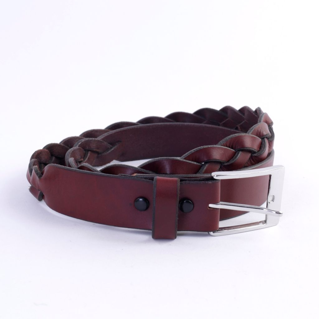 Burgundy Leather Belt, NOT SIZED