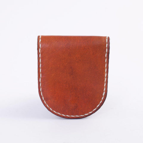 Saddle Tan Leather Coin Case