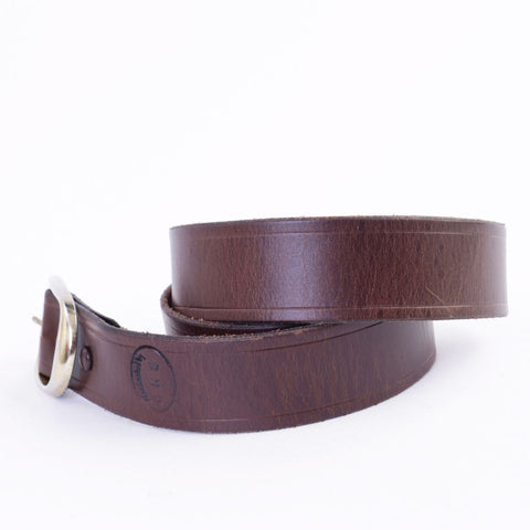 Brown Leather Belt, Custom Sized