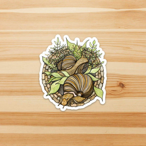 Snail Garden Sticker