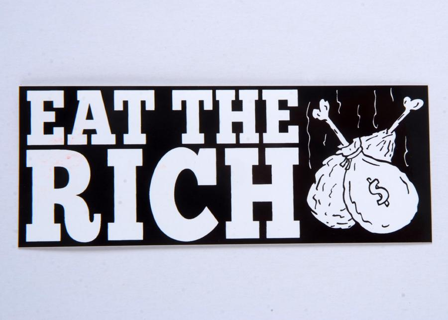P. Calavara Eat the Rich sticker