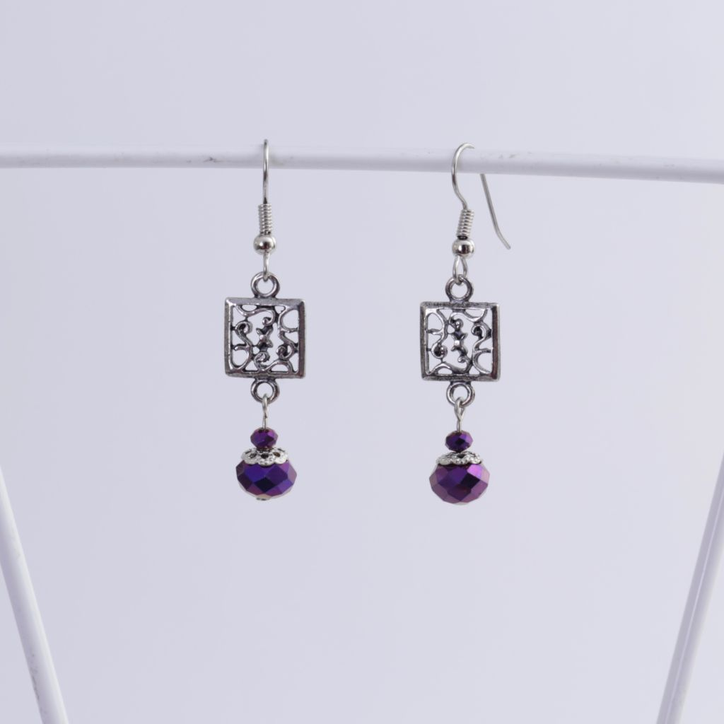 Electric Purple Earrings