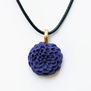 Purple Dahlia Necklace