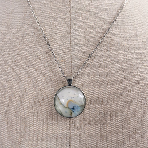 Abstract Alcohol Ink Necklace