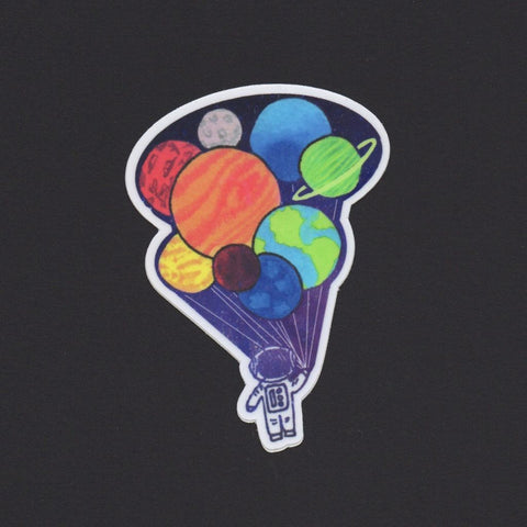 Planet Balloons Sticker