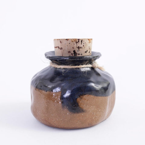 Large Ceramic Corked Vessel