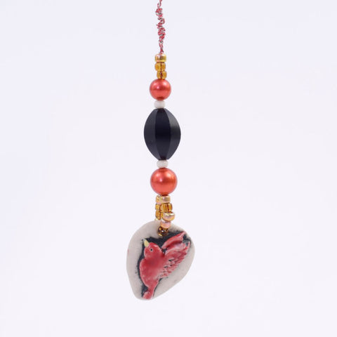Porcelain Redbird Goddess Bauble Hanging