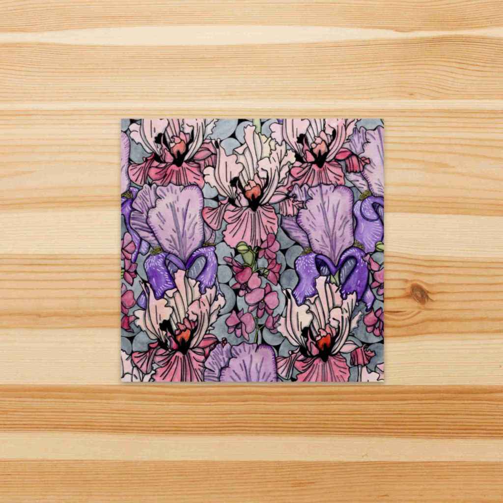 Floral Repetition Sticker