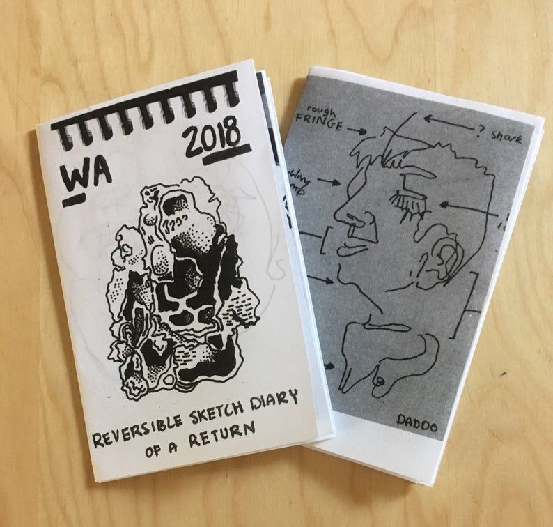 Reversible Sketch Diary Zine