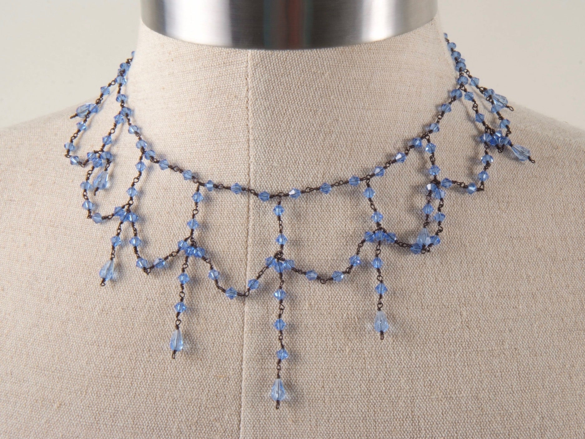 Wire & Crystal Choker
