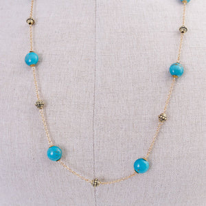 Teal & Gold Necklace