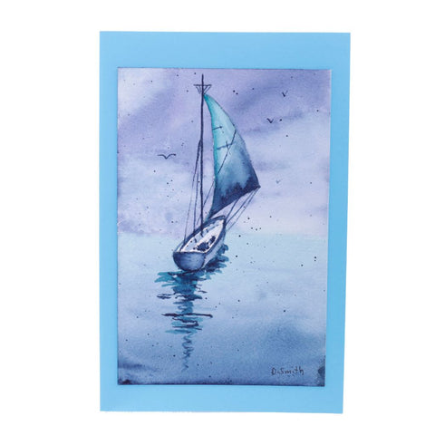 Sail On Original Watercolor Greeting Card