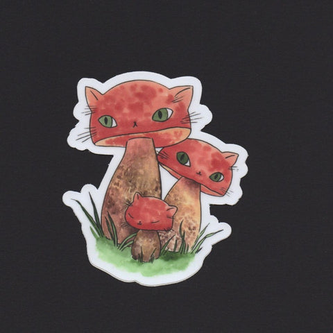Boletes Meowshroom Sticker