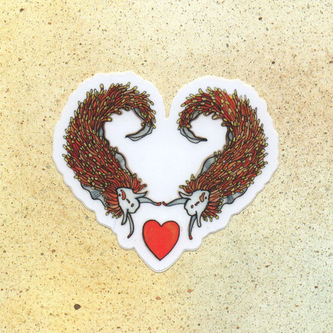 Nudibranch Love Sticker