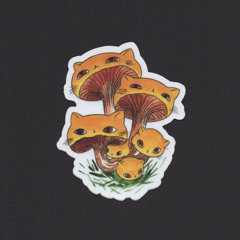 Chanterelles Meowshroom Sticker