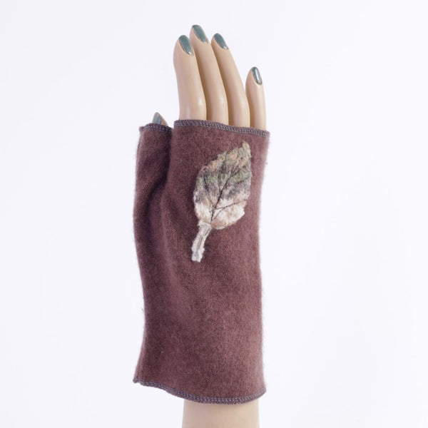 Brown Cashmere Armwarmers