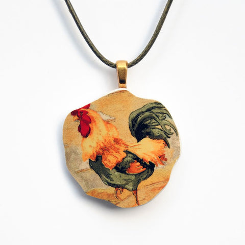 Rooster Pendant Necklace