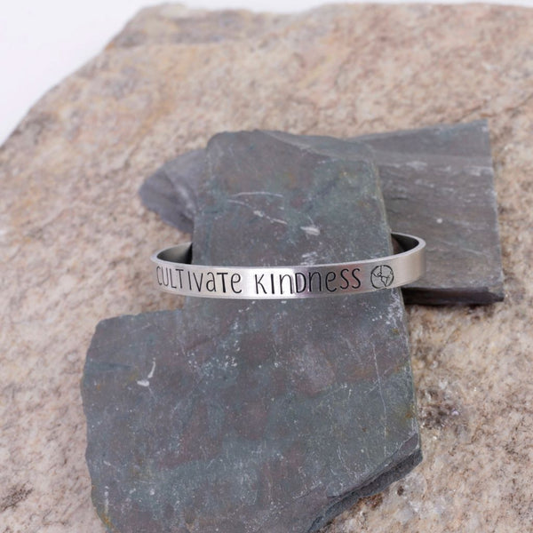 Positive Message Aluminum Bracelet- Multiple Choices