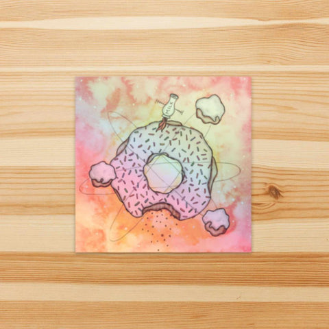 Cosmic Doughnut Holographic Sticker