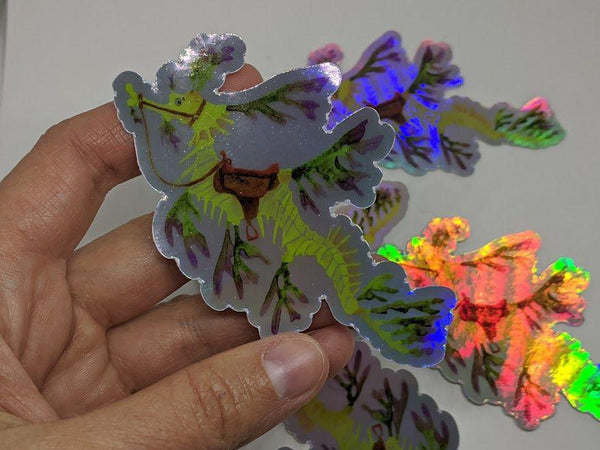 Leafy Sea Dragon Holographic Vinyl Sticker
