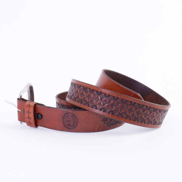 Acorn Brown Leather Belt, NOT SIZED
