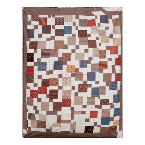 Country Cute Autumn Tones Twin Patchwork Coverlet
