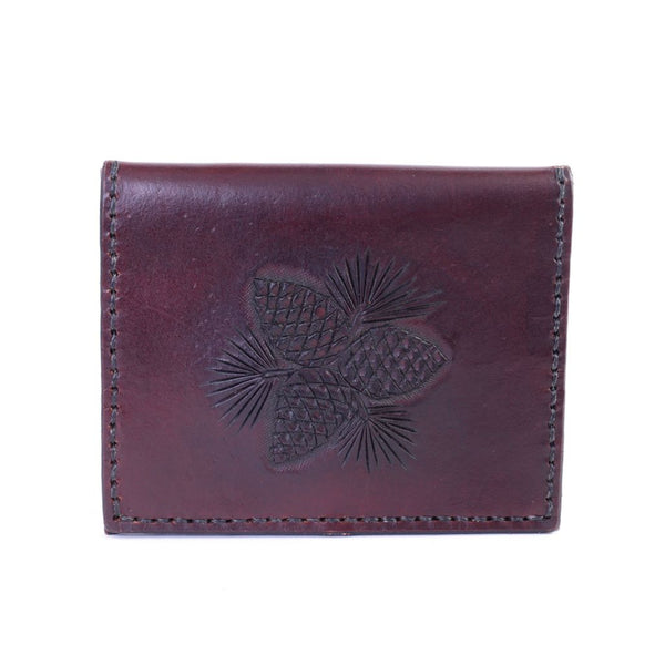 Pine Cone Stamped Leather Wallet