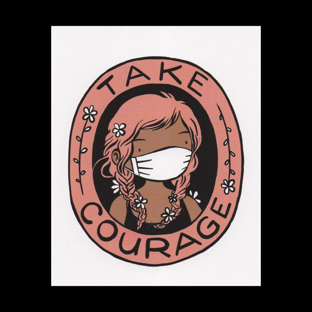 Take Courage Postcard