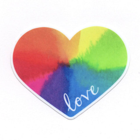 Rainbow Heart Love Vinyl Sticker