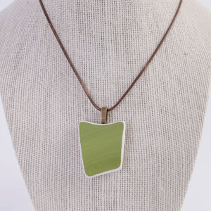 Green Upcycled Ceramic Necklace