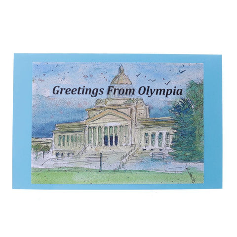 Oly Capital Greetings From Olympia Fine Art Card