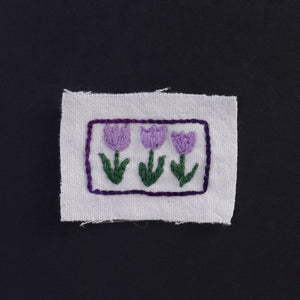 Three Tulips Hand Stitched Patch