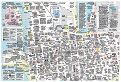 Psychogeographic Walking Map (Downtown)
