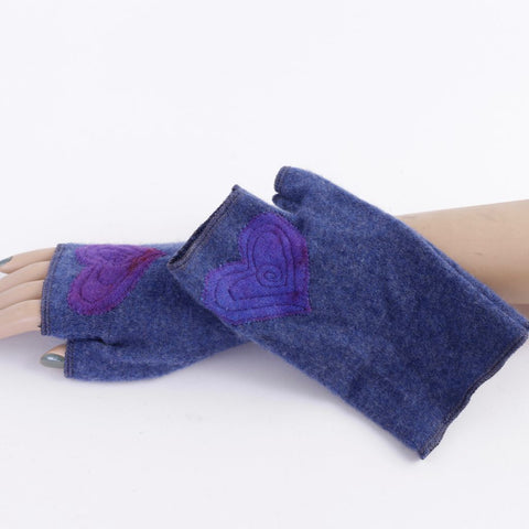 Cashmere Armwarmers w Hearts