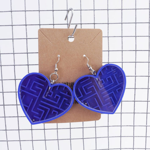 Heart Maze Earrings