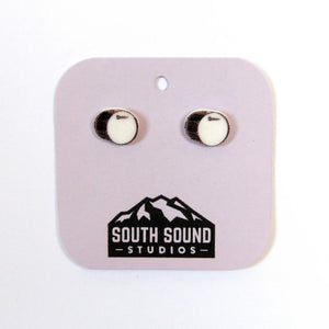 Kick Drum Stud Earrings