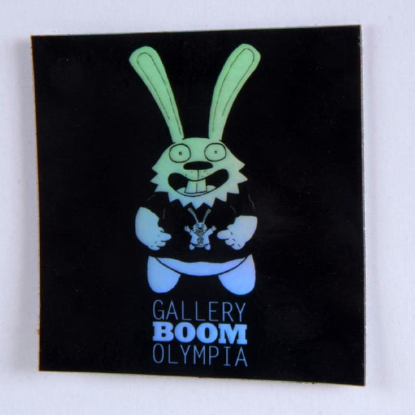 Boom Bunny Hologram Sticker