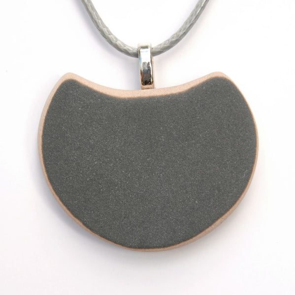 Upcycled Vintage Grey Ceramic Pendant