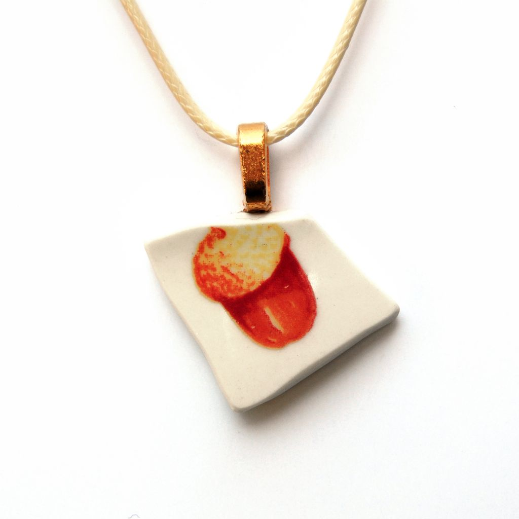 Acorn Ceramic Pendant Necklace