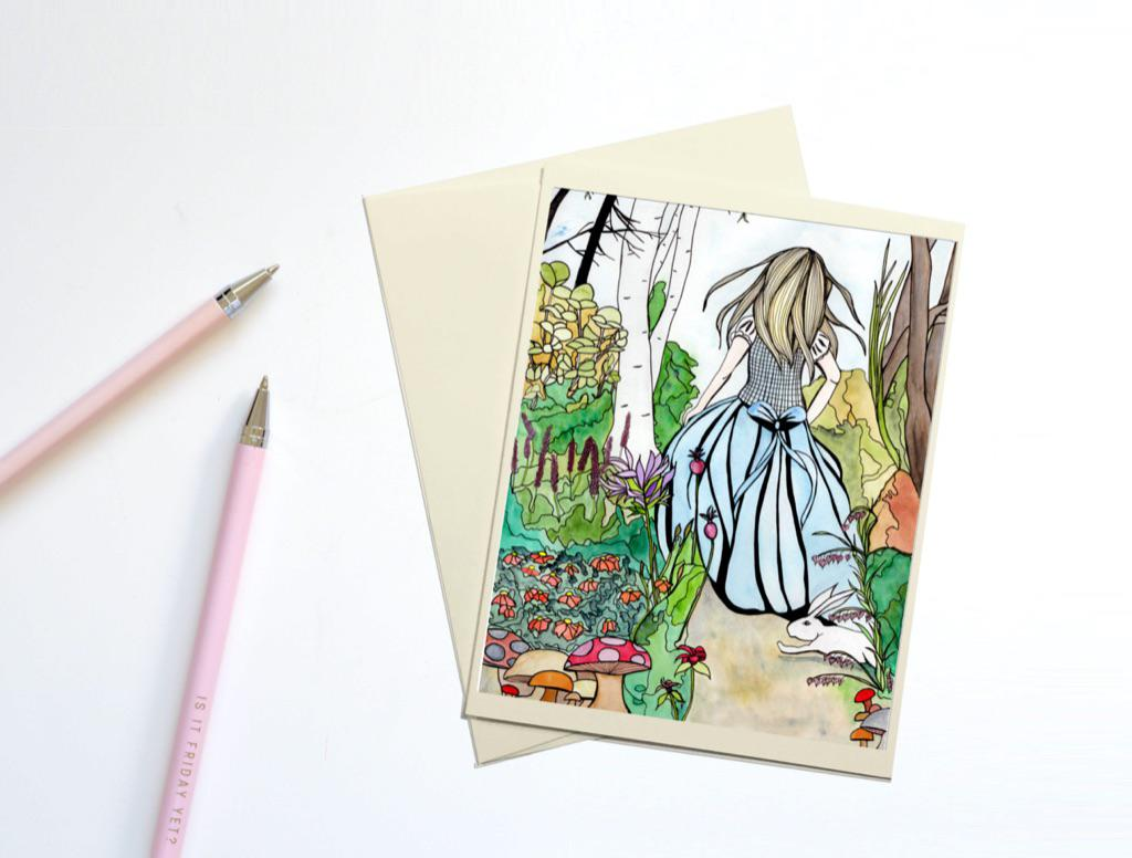Alice, Note Card & Envelope