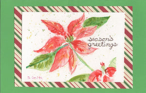 Poinsettia Holiday Card