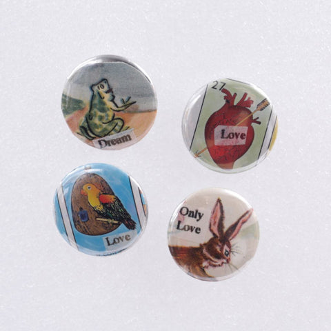 "Re-purposed 1"" Pinback Buttons Vintage Book Pages"