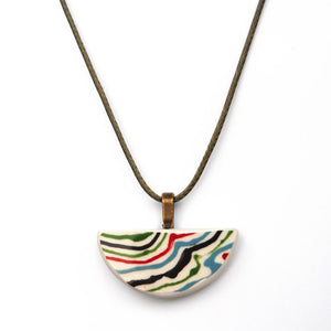 Multicolor Painted Necklace